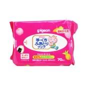 Pigeon 贝亲 日本原装 食品原料婴儿除菌湿巾 盒装70抽