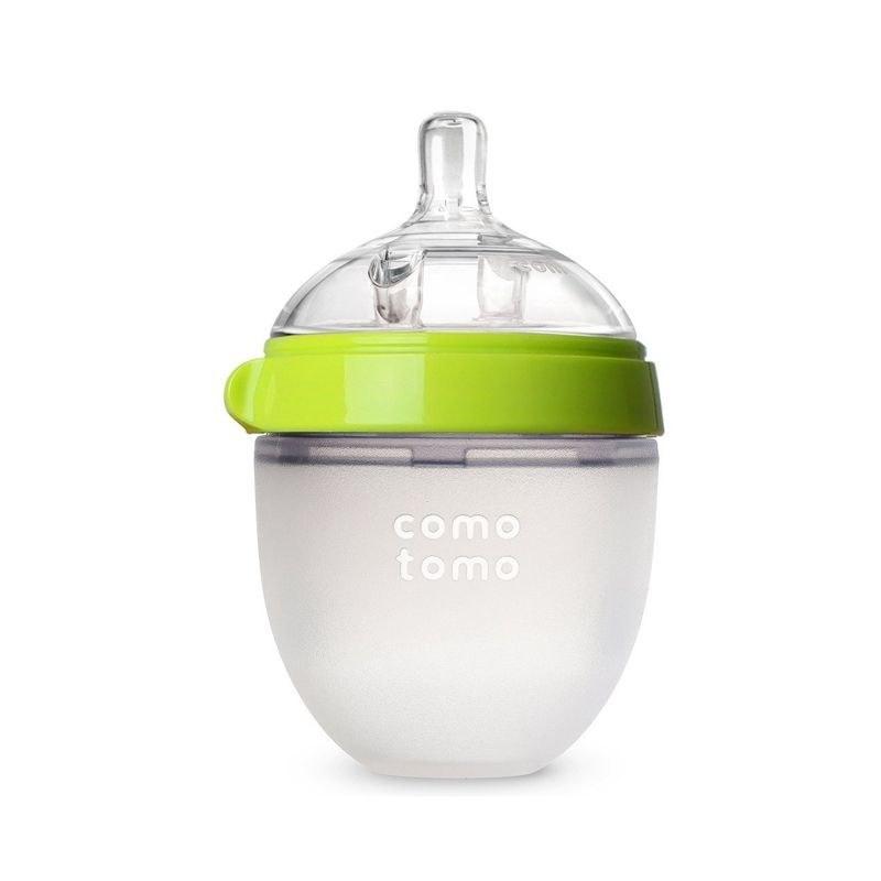【香港直邮】como tomo可么多么 韩国 婴儿硅胶奶瓶 绿色 150ml