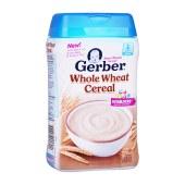 2罐装|Gerber 嘉宝 美国 谷物全小麦米粉 2段 227g