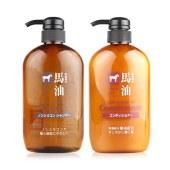 KUMANO 熊野油脂 Horse Oil 日本 马油洗发水 600ml+马油护发素 600ml 组合