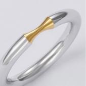 壹禾 /iAu 一点金心戒指款式A 黄金+925银简约气质女戒 13#