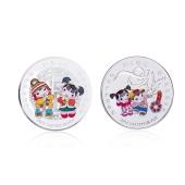 欢喜中国年纯银贺岁纪念币套装2盎司拜年银币直径39mm 009JB000016 约62.21g