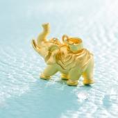黄金大象吊坠足金吉祥象平安大象富贵平安吊坠男女款  约重3.01g