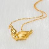 天使的翅膀可延长足金女士套链项链 约6.06g