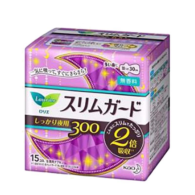 【保税区】Laurier 乐而雅 日本 超薄瞬吸卫生巾 夜用 带护翼 30CM 15片/包