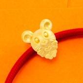 壹禾金铺 十二生肖鼠年手串心有所鼠999足金黄金纯金老鼠宝宝本命年女款手链约0.91g-1.13g