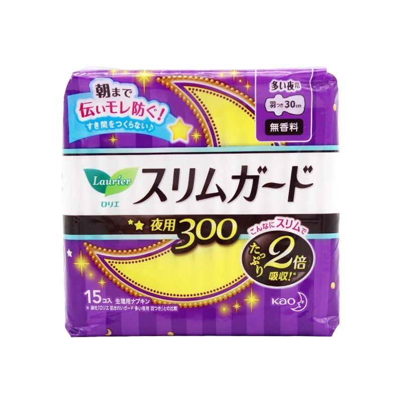 【国内发货】Laurier 乐而雅 日本 超薄瞬吸卫生巾 夜用 带护翼 30CM 15片/包