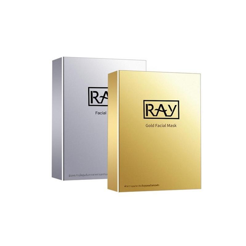 【买一送一 香港直邮】 泰国RAY蚕丝超薄面膜金色+银色