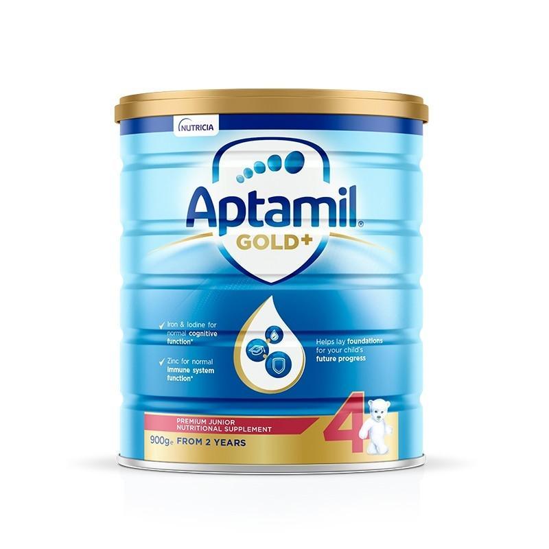 【保税区】新包装 Aptamil 爱他美 澳洲金装版 婴幼儿配方奶粉 4段 2岁以上 900g/罐
